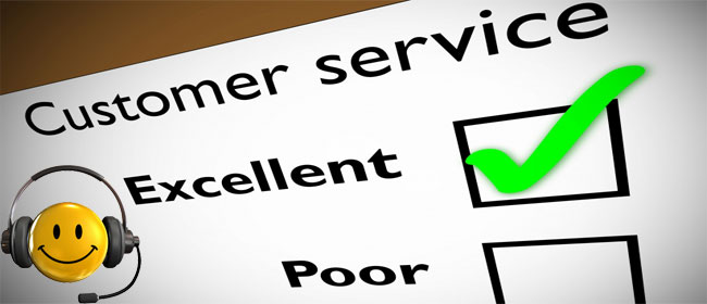 تقديم خدمة عملاء رائعة